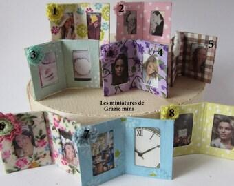 Photo frame miniature-scale 1:12- dollhouse miniature