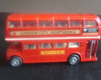 Die cast London City Sightseeing red bus double decker or London Bus Picture frame