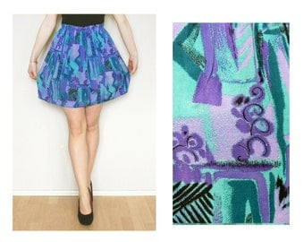 Blue skirt - short vintage skirt