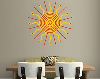 Colorful Sun Wall Decal