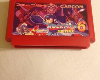 Rockman 6 Master X Custom Famicom 8bit Game. Mega Man