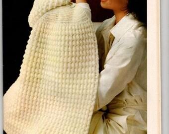 "Model-boss ""Burnou crochet baby bag"" / first age / Vintage 70"