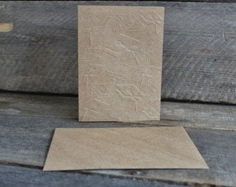 Note Cards and Envelopes ~ Blank Cards  ~ Graduation Card Set ~  Thank You Cards  ~ Set of 4 ~ Embossed Note Cards With Envelopes