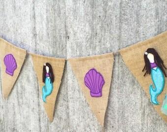 Mermaid theme, Mermaid invitation, Mermaid birthday party, mermaid baby shower, mermaid nursery, Mermaid Banner, Mermaid party