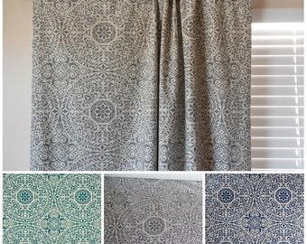 Window curtains window panels window drapes custom curtains geometric curtains designers curtains rod curtains 3 colors