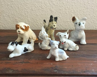 Vintage Lot of Dog Figurines / Made in Japan / Instant Collection