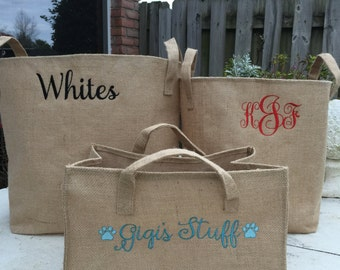 Burlap Storage Bins -2 Sizes