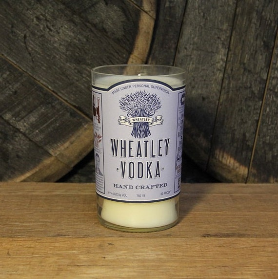 Wheatley Vodka Candle Groomsmen Gift, Anniversary Gift, Engagement Gift, 750ml 18oz, Recyled Vodka Bottle Soy Wax Upcycled Candle Custom