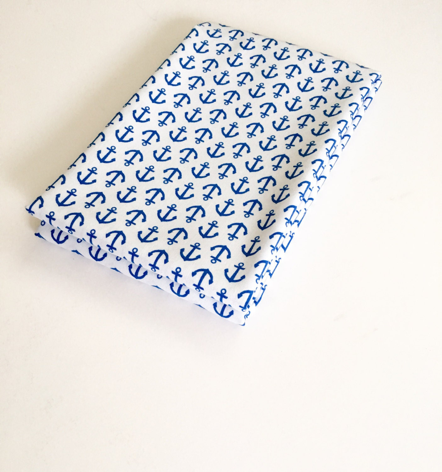 Sailor baby nursery fabric geometric nautical anchor print for Nautical nursery fabric