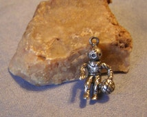 DEEP SEA DIVER Charm/Pendant - 3.25g 925 Sterling Silver - vintage 3D Scuba Diver Collectible Nautical Ocean theme Birthday Christmas Gift