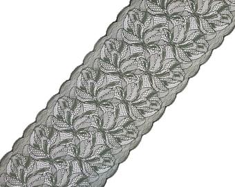 Stretch Lace green color, green lace, elastic lace, lingerie lace, lace trim, width 8,66 inch lace, 22 sm lace, lace per metre, Nr2316