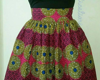 African Clothing: Navo African Print Skirt