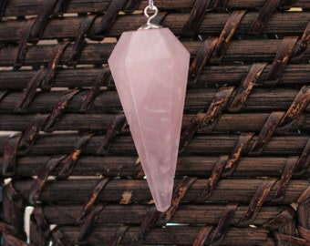 Rose Quartz Pendulum infused with Love and Reiki, Heart Chakra Crystal