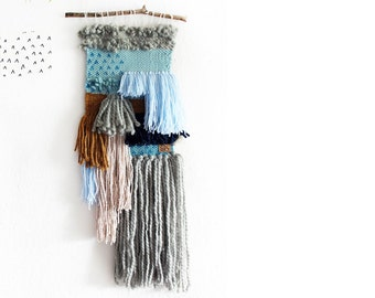 """hand-woven tapestry """"Fringe dance"""""""