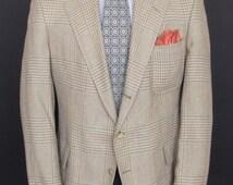 "Size 44R - Polo by Ralph Lauren 1980's VTG three-button patch pocket summer sport coat/jacket/""blazer"""