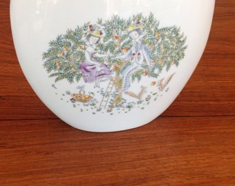 Rosenthal Peynet lovers large vase - double sided - signed - mint condition