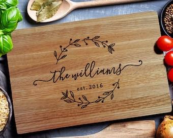 Custom Cutting Board,  Personalized Cutting Board, Carving wood  Board, Chopping Board, Wedding gift,  Personalized closing gift (157)