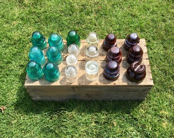 Vintage Glass Insulator Lot of 19, Assorted Colors and Brands, turquoise clear green Glass, brown porelain ceramic Insulators