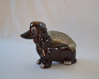 Vintage Spiral Dog Envelope Holder Kitchy And Cute