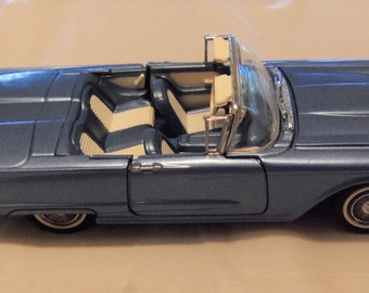 Vintage Franklin Mint Precision Model Classic Cars Of The Fifties 1958 Ford Thunderbird 1:43 Scale Collectible Model Cars