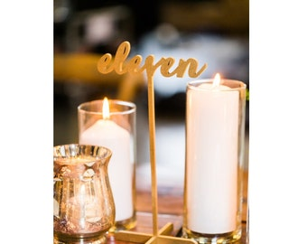 15 Freestanding Gold Table Numbers. Wedding Numbers. Table numbers.