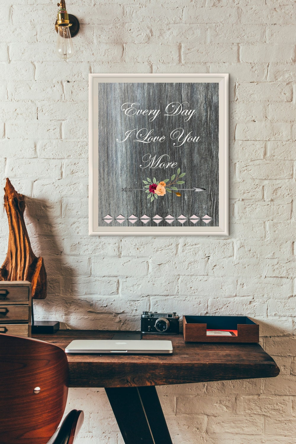 Every Day I Love You More Printable Wall by DigitalDreamsFoundry