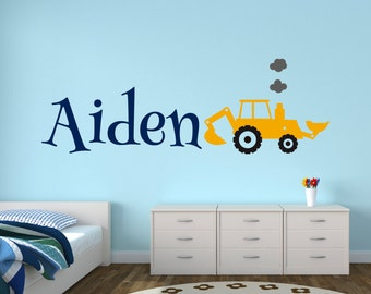 Construction Kids Wall Decal Nursery Wall Decal Vinyl Wall - Wall decals nursery nz