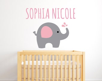 Elephant Wall Decal Etsy