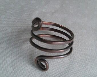 copper wire ring , handmade ring , handmade jewelry