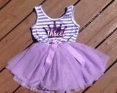 Purple Third Birthday Dress - Sophia the First Inspired
