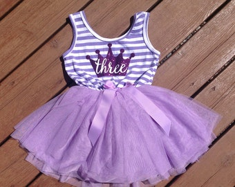 Purple Third Birthday Dress - Sophia the First Inspired