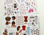I am a Fashion Statement Planner Layout Stickers