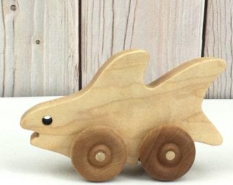 Shark Toys ~ Wooden Shark ~ Toddler Toys ~ Wooden Push Toy for Toddler ~ Wooden Shark Push Toy ~ Wooden Toy Shark ~ Wooden Toys for Toddlers