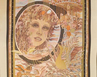 """Melanie Taylor Kent """"Carousel Marionette"""" Serigraph 178/200 Limited International Edition 1980 Print Hand Signed"""