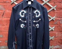 Vintage Western Shirt.  By Lord Jackson, Made in Great Britain.  Men's Small