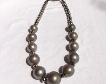 Fashion Silver Balls Necklace 16""