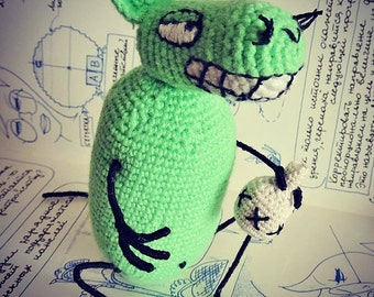 Toy 12 oz. Mouse. Cartoon characters. Crochet toy
