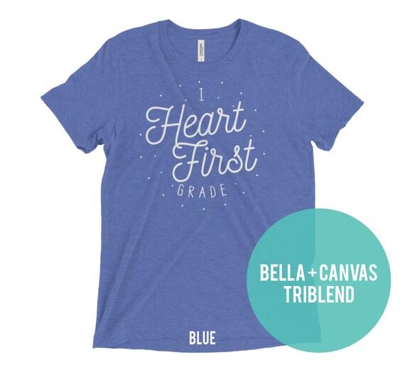 Teacher Tshirt I I Heart Kindergarten shirt, First grade shirt, Second grade shirt  | Teacher shirt | Back to School | Team shirt