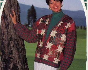 FREE US SHIP Back Porch Press Quilt Stardust Cardigan Size 6-22 Gaile E Abeloe Craft Sewing Pattern 1991 Unused