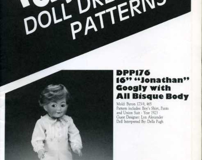 "FREE US SHIP Poissot Doll Dress Pattern Retro 1990's dpp176 16"" Boy Doll Clothes Sewing Pattern Insert From Dollcrafter Vintage Magazine"
