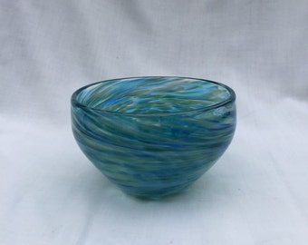 Sea and Sand Hand Blown Glass Bowl (AW B115)