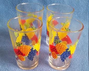 Vintage Firna Fruit Glasses