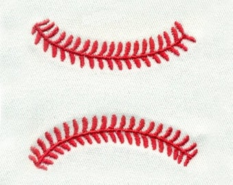 Baseball Stitches or Softball Stitches Sport Embroidery Design  - Instant Digital Download