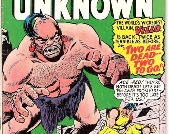 Challengers of the Unknown 52, Villo Vintage Outer Space comic book, sci-fi, Astronauts. 1966 DC Comics in FN+ (6.5)