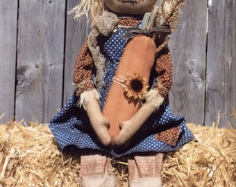 """PATTERN """"Dirty Hanna"""" Keeper of the Patch Fall Scarecrow"""