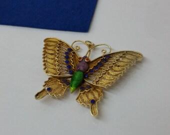 Art Nouveau Butterfly brooch pendant SB201