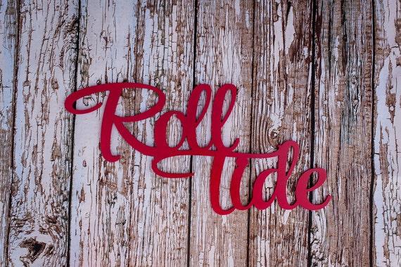 Crimson alabama wall hanging red al wood wall art dad from for Alabama football wall mural