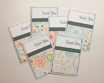 Set of 6-Whimsical Thank You Cards