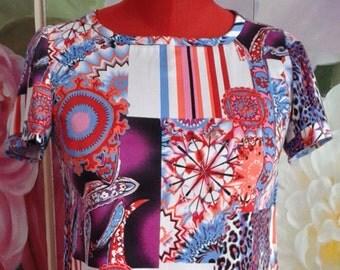 Customized short sheath dress, dress tailoring years 60