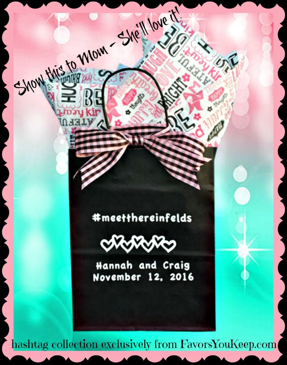 25 Wedding Welcome Bags Personalized Wedding Guest Gift Bags